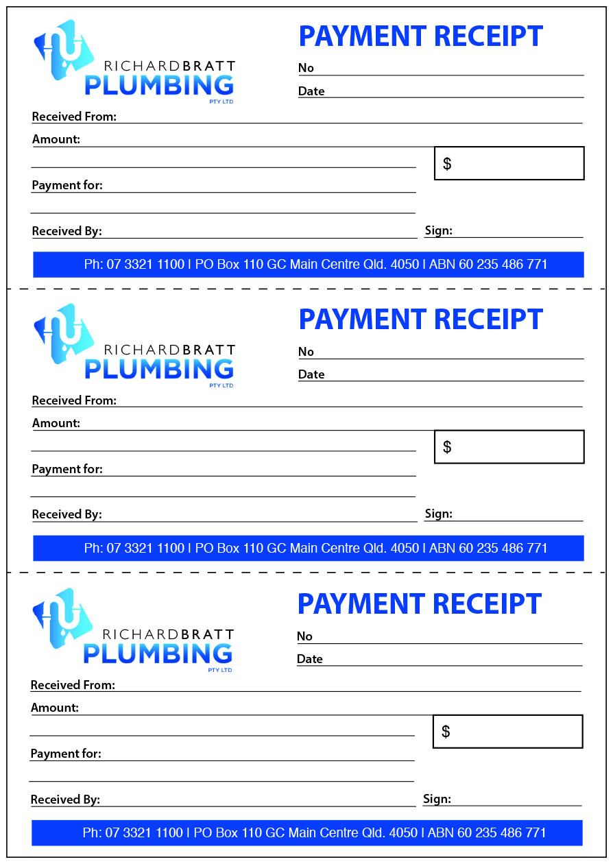 A4 3up Payment Receipt